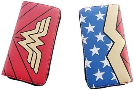 DC Wonder Woman Cartera Suicide Squad Monedero Super Hero Cartoon Cartera Personalizada Anime Bolsos para Adolescentes Chica: Amazon.es: Hogar