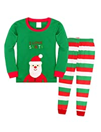 HenzWorld Santa Claus Christmas Pajamas Sleepwear Kids Cosplay Clothes Set