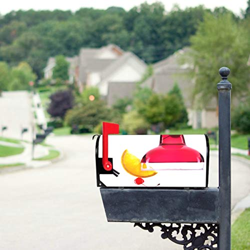 THKDSC Party Colored Glass Cocktail Mailbox Covers Standard Size Original Magnetic Mail Cover Letter Post Box 21