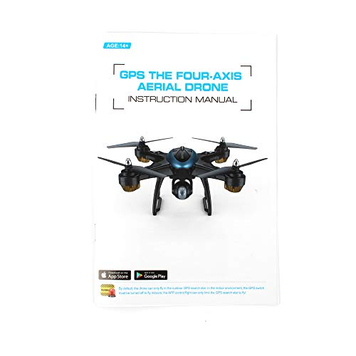 LH-X38G 2.4GHz Dual GPS Wifi FPV 1080P 4CH RC Drone, Air Pressure Setting Aerial Photography Automatic Follow Real-time Transmission Pointing Headless Modes(Above 14 Age),With Backpack (Blue) by Sonmer (Image #2)