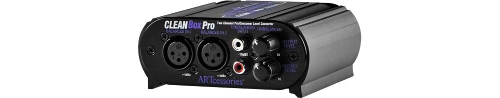 ART CLEANBoxPro 2-channel Balanced / Unbalanced Converter by ART