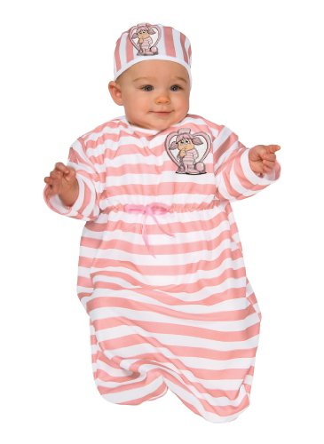Convict Clown Child Costume (Rubie's Costume Tyke Or Treat Baby Bunting Costume Cute Little Convict, Convict, 0-9 Months)