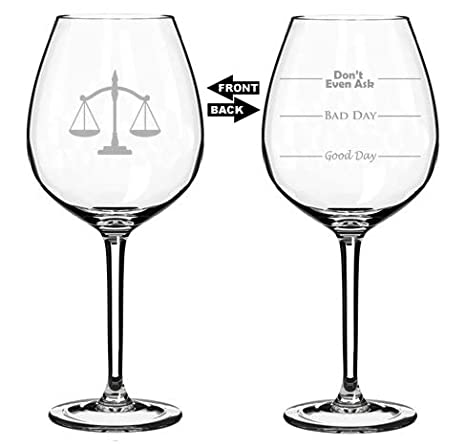 Amazon.com: 20 oz Jumbo Wine Glass Funny Dos Sided Good Day ...