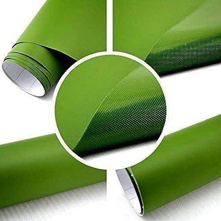 TipTopCarbon Película auto Mate verde oscuro SIN BURBUJA con Conductos de aire 3D Flex - verde oscuro, 500cm x 152cm