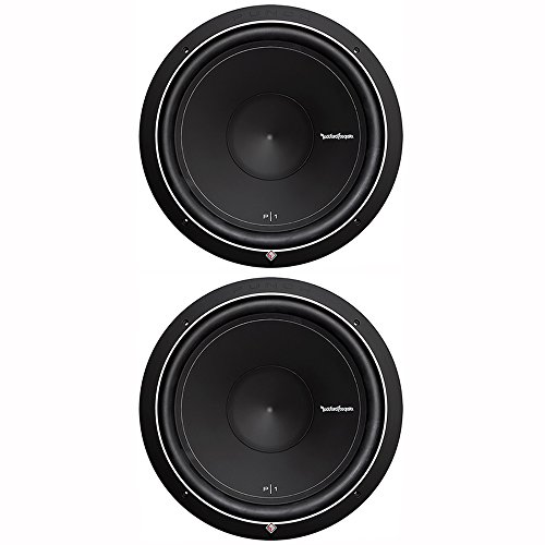 Rockford Fosgate Pair of 2 Punch P1 15-Inch 500-Watt 4-Ohm SVC Subwoofers
