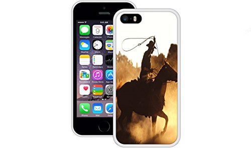 Cowboy Rope | Handgefertigt | iPhone 5 5s SE | Weiß TPU Hülle