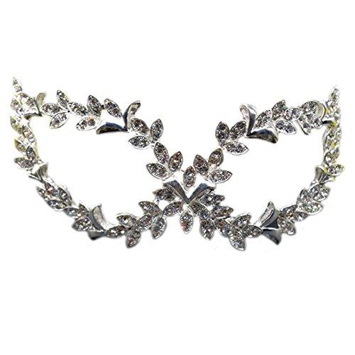 Secxt Olive Leaf Diamond Halloween Mask, Fashion Masquerade Mask, Gift Atmosphere, Mask, Eye Patch, Sex Appeal, Couple Flirtatious Products, Mask, Eye Mask (Olive Leaf)Temperament, Underwear, Persona