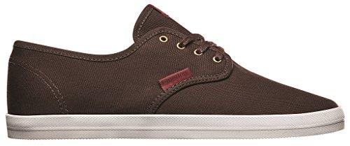 Emerica Men's The Wino Skateboard shoe Brown/Red 2LHT1vm