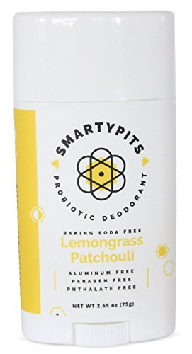SmartyPits - Natural/Aluminum Free Prebiotic Deodorant (Baking Soda Free) (Lemongrass Patchouli) ()