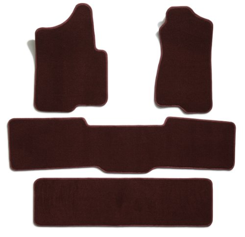 Premier Custom Fit 4-piece Set with 2 piece front 1 midrunner and 1 rearrunner Carpet Floor Mats for Chevrolet and GMC (Premium Nylon, Wine) ()