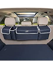 Trunk and Backseat car Organizer by Yogi Prime, hanging Trunk Storage Organizer Will Provides You The Most Storage Space Possible, Use It As A Back Seat Storage Car Cargo Organizer and Free Your Trunk Floor