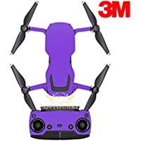 SopiGuard 3M Matte Purple Precision Edge-to-Edge Coverage Vinyl Sticker Skin Controller 3 x Battery Wraps for DJI Mavic Air