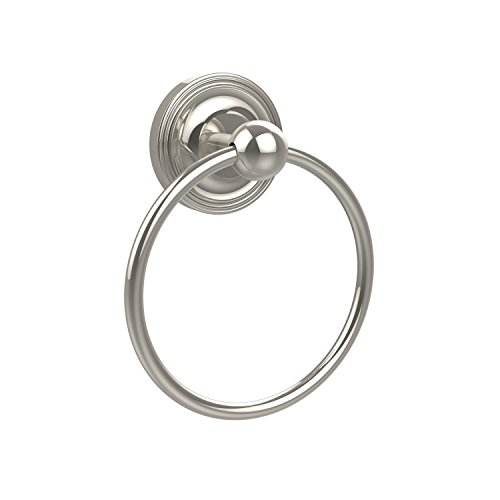 Allied Brass PR-16-PNI Prestige Regal Collection Towel Ring, Polished Nickel ()