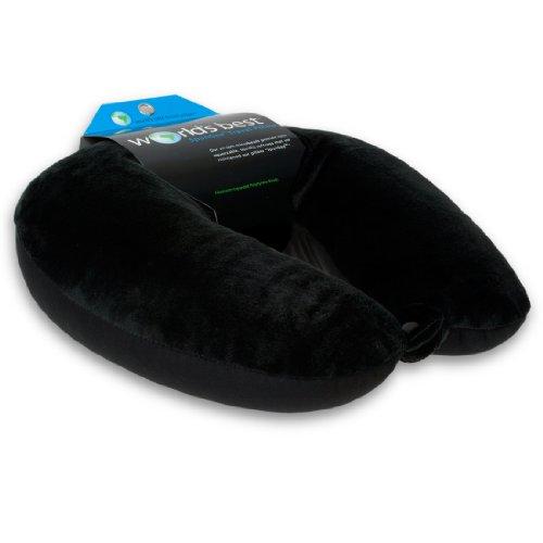 World's Best Air Soft Microbead Neck Pillow, Black