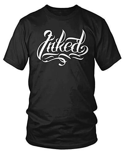 Amdesco Men's Inked Tattoos Tattooed T-Shirt, Black 4XL