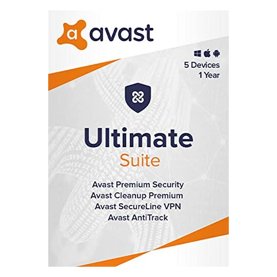 Avast Ultimate 2021 | Antivirus+Cleaner+VPN | 5 Devices, 1 Year [Online Code]