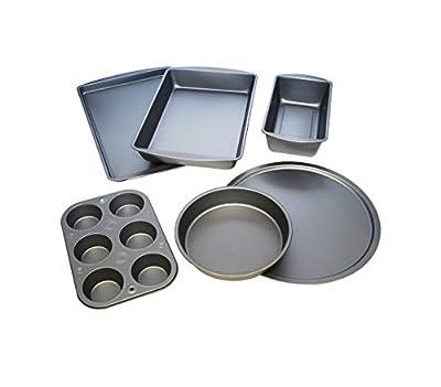 Heavyweight 6-Piece Non-Stick Bakeware Set, Black