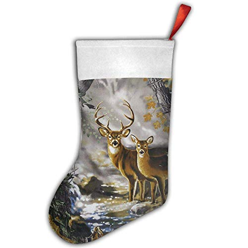 Stocking Christmas Needlepoint Mini (liappo Real Tree Camouflage Deer Christmas Stockings Gift & Treat Bag,for Favors and Decorating)