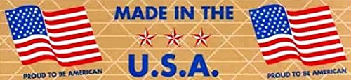 Made in the USA Flag Printed Reinforced Kraft - Printed Press Mold Cake