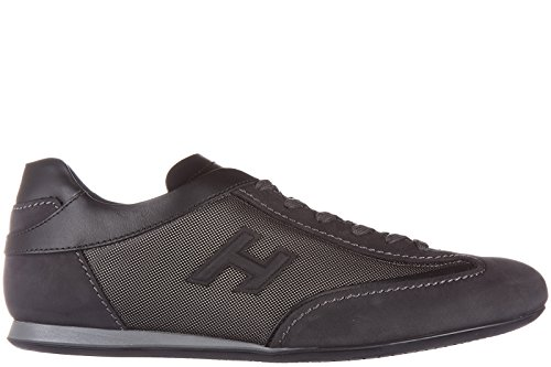 Hogan chaussures baskets sneakers homme en cuir olympia slash h 3d gris