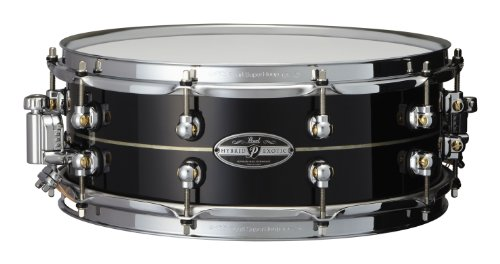 Pearl HEK1450 14 x 5 Inches Hybrid Exotic Snare Drum - Kapur with Inner Fiberglass
