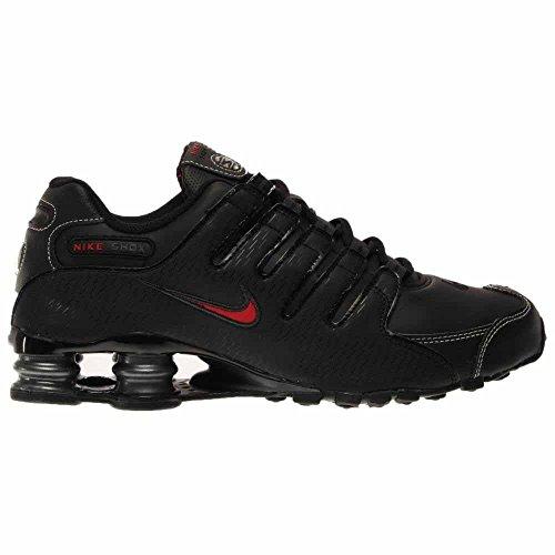 Nike Shox NZ EU, Scarpe sportive, Uomo Black/Vrsty Red-White-Anthrct