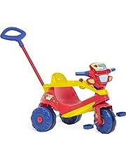 Triciclo Velobaby Passeio e Pedal, Bandeirante, Vermelho