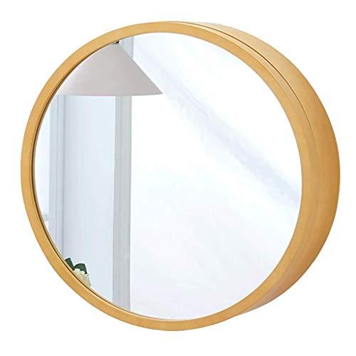 KDS Round Bathroom Mirror Cabinet Wall-Mounted Bathroom Locker Medicine Cabinet Wooden Frame - Mirrors Beech Bathroom Cabinet