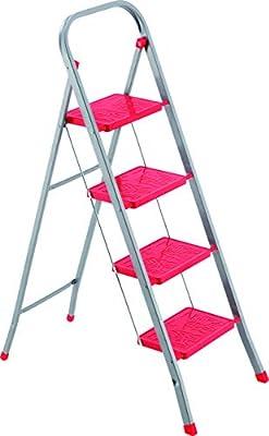 FRAMAR Slimmy 4 Taburete Escalera de Acero, 4 Peldaños: Amazon.es: Bricolaje y herramientas