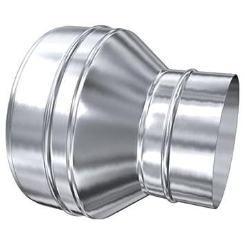 Schornstein /Übergang MKD 80 mm - MKS 80 mm aufgeweitet Edelstahl gl/änzend Keine Farbe w/ählbar MK sp Z o.o 140 mm