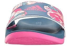 adidas Performance Women\'s Adilette CF+ GR W Athletic Sandal, Core Blue/Shock Pink/White, 7 M US