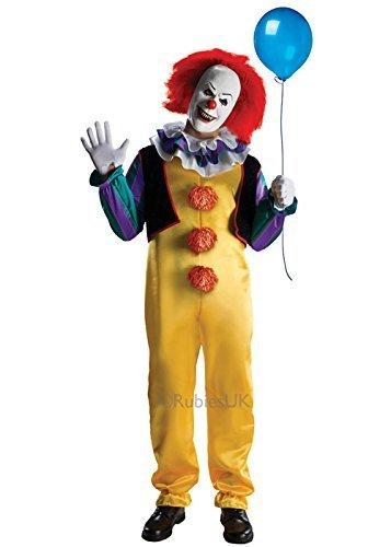 Adulto Deluxe Pennywise Rubies IT Stephen King Da uomo Spaventosa Clown  Costume Halloween 360bd6fdbd9f