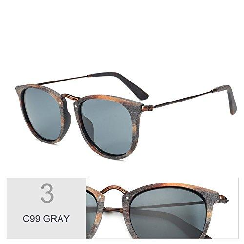 C10 C99 Marcos GRAY En Gafas Acetato De De TIANLIANG04 Mano Atrás Gafas Polarizadas Moda Gafas Haciendo Sol Unisex Azul T77ZwqA