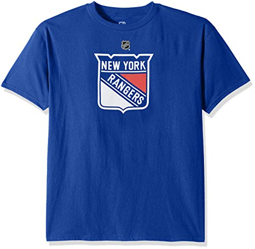 Outerstuff NHL NHL New York Rangers Kids & Youth Boys Primary Logo Basic Short Sleeve Tee, Royal, Youth -