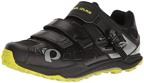 Pearl Izumi Men's X-Alp Enduro v5 Cycling Shoe, Black/Monument Grey, 40 EU/6.9 D US