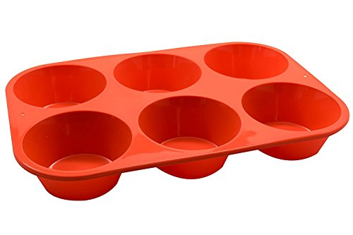 Inditradition® 6 Cup Silicone Muffin & Cupcake Mould Tray (Red) Price & Reviews