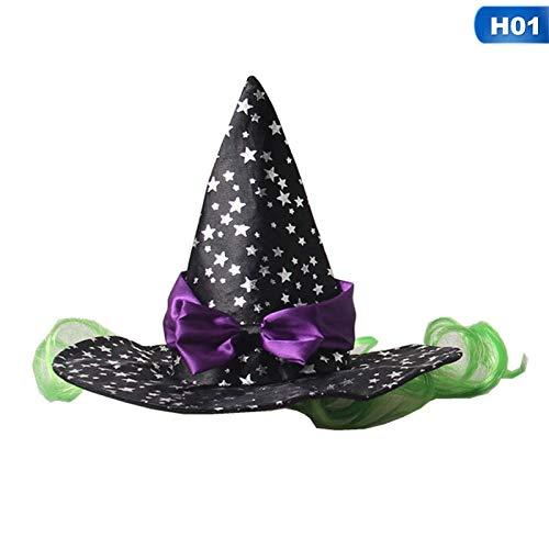 Autumn Water Star Spider Web Pet Cat Dog Halloween Costume Cosplay Wizard Sharp Hat Cap Masquerade Party Birthday Gift Pet Supplies