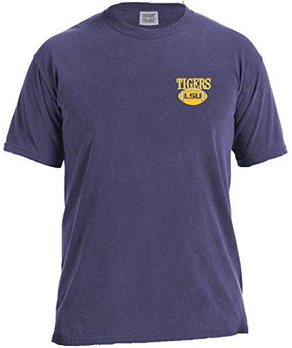 - NCAA Lsu Tigers Vintage Football Short Sleeve Comfort Tee, X-Large,Grape