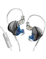 KZ ZEX Statische Dynamic Drive Hybrid Oortelefoon HiFi Bass Oordopjes Sport Passieve Ruisonderdrukking HD Headset Afneembare Kabel (Met microfoon, Grafiet)