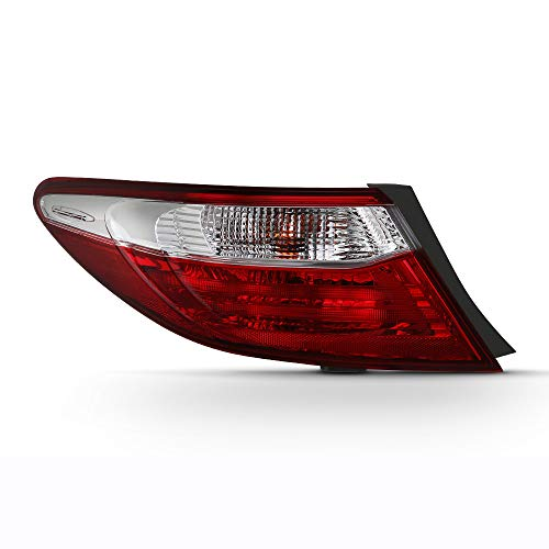 VIPMOTOZ Red Lens OE-Style Tail Light Lamp Assembly For 2015-2017 Toyota Camry, Outer Body Driver Side