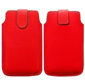 Wayzon rojo polipiel funda piel protección garantizados Cartera Funda para Huawei Ascend G350