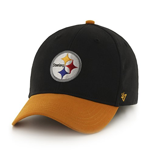NFL Pittsburgh Steelers Kids Short Stack '47 MVP Adjustable Hat, Infant, (Pittsburgh Steelers Throwback Pennant)