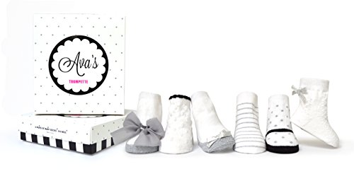 Trumpette Baby Girls Sock Set-6 Pairs, Ava's-Assorted Colors, 0-12 Months (Trumpette Baby Girl)