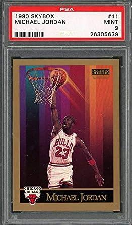 fdbfea9ab73bd Amazon.com: 1990-91 skybox #41 MICHAEL JORDAN chicago bulls PSA 9 ...