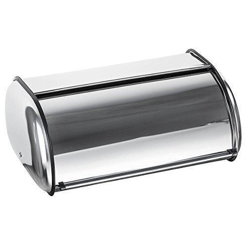Bread Canister - Home-it Stainless Steel Bread Box for kitchen, bread bin, bread storage Bread holder 16.5x10x8