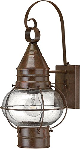 Hinkley 2200SZ Rustic One Light Wall Mount from Cape Cod collection in Bronze/Darkfinish,