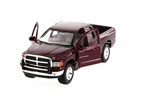 Maroon Truck (2002 Dodge Ram Quad Cab Pick Up Truck, Maroon - Maisto 31963MR - 1/27 Scale Diecast Model Toy)