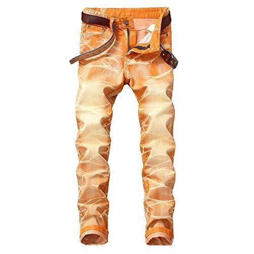 Skinny Hip Denim Confortevoli Uomo Stretch Casual Pantaloni In Retrò hop Jeans Morbido Arancia Adelina Da Abbigliamento BqOvzgwp