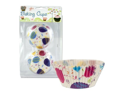 Happy Birthday baking cups - Case of 48