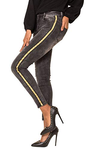 Banda 2 Chic D2511 Donne Pantaloni Simply Stretch Skinny Nero Jeans HtxFwn6zq
